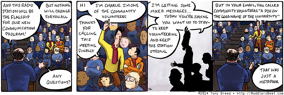 A metaphor for… how we VALUE our community volunteers… so much that… it's like a pox… but in a GOOD way.